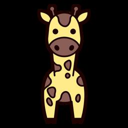 Linda jirafa plana