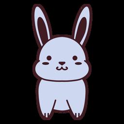 Apartamento de coelho cinza fofo