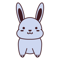 Cute gray bunny flat