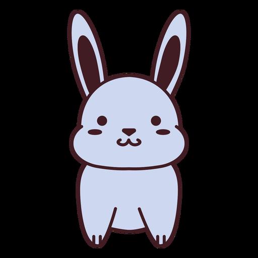 Cute gray bunny flat