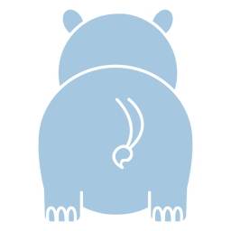 Cute hippo back cut out