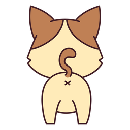 Lindo gatito plano