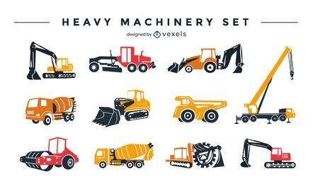 Conjunto de design de maquinaria pesada