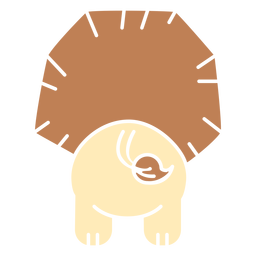 Cute lion back cut out