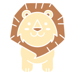 Cute lion cut out