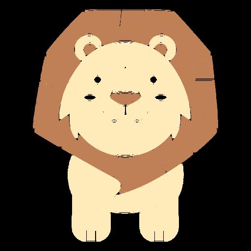 Lindo león cortado