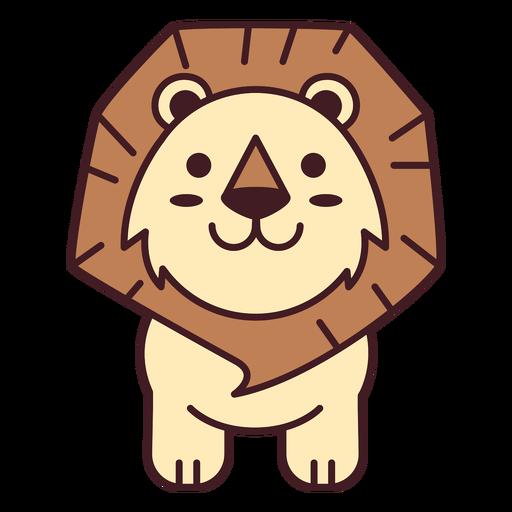 Cute lion flat