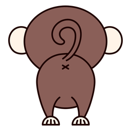 Cute monkey back flat