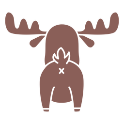 Cute moose back cut out