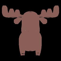 Lindo corte de espalda de alce