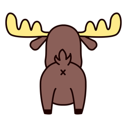 Cute moose back flat