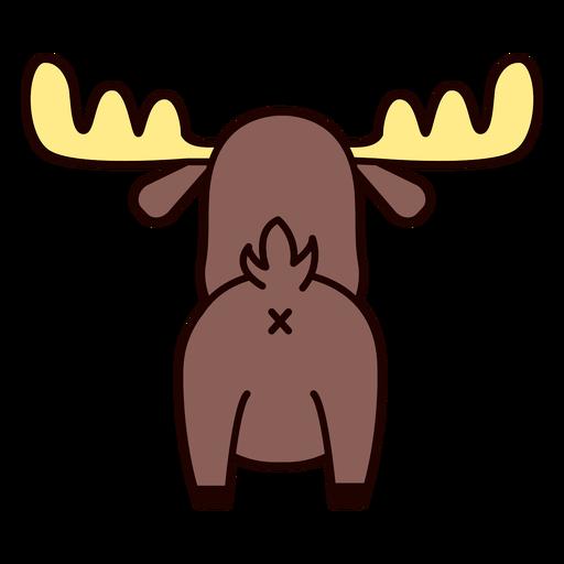 Cute moose back flat