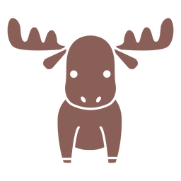 Cute moose cut out