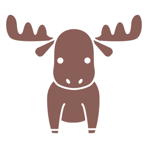 Cute moose cut out
