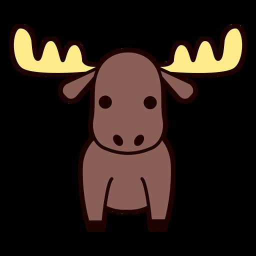 Cute moose flat