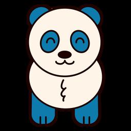 Cute panda bear flat