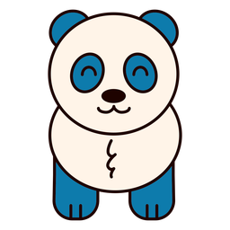 Urso panda fofo