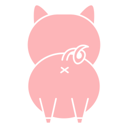 Lindo cerdo recortado