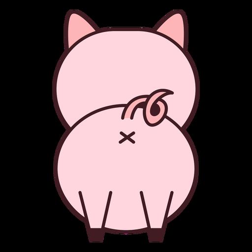 Linda espalda de cerdo plana