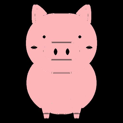 Cute pig cut out