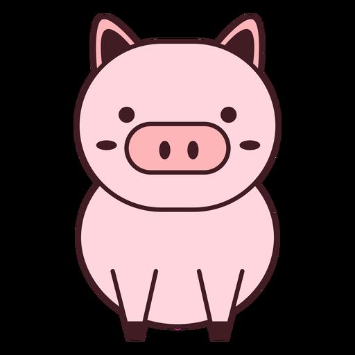 Lindo cerdo plano