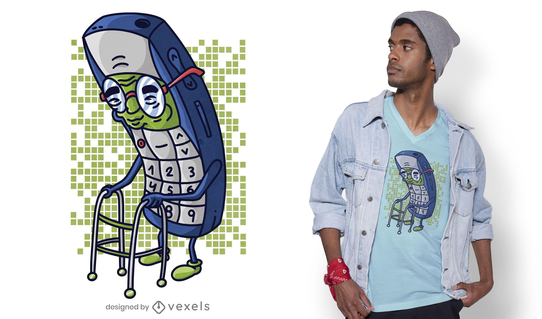 Old cellphone t-shirt design