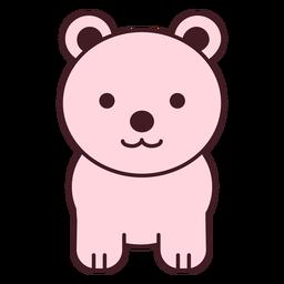 Cute pink bear flat