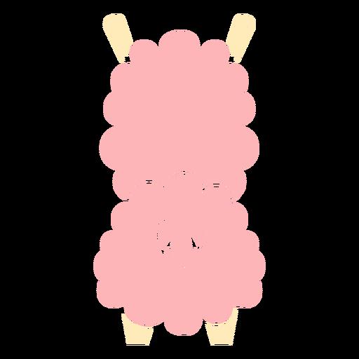 Lindo corte de espalda de llama rosa