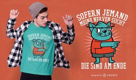 Camiseta con cita de gato mareado