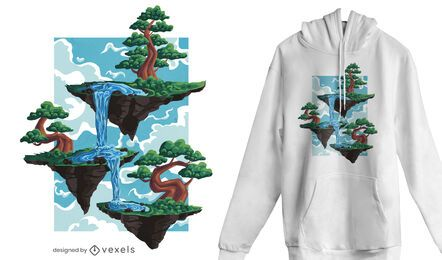 Floating islands t-shirt design