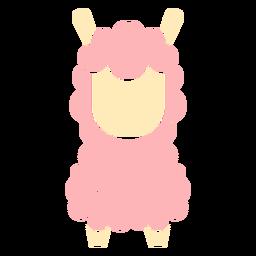 Cute pink llama cut out