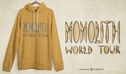 Design de camiseta da turnê mundial Monolith