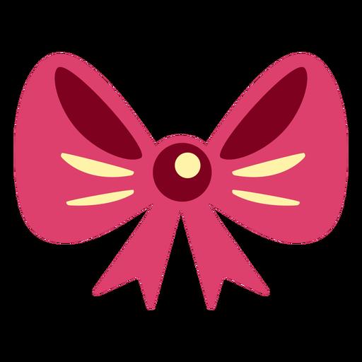 Cute pink ribbon flat