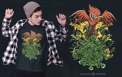Phoenix vs Covid t-shirt design