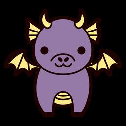 Cute purple dragon flat