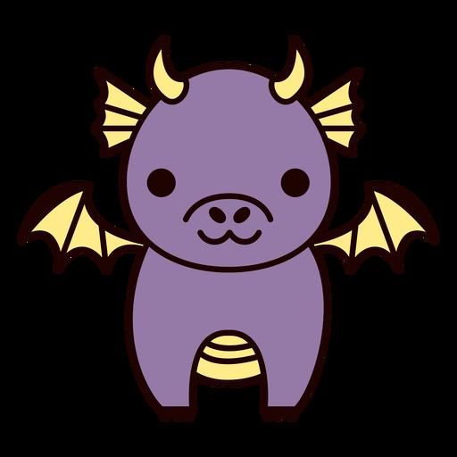 Lindo dragão roxo plano