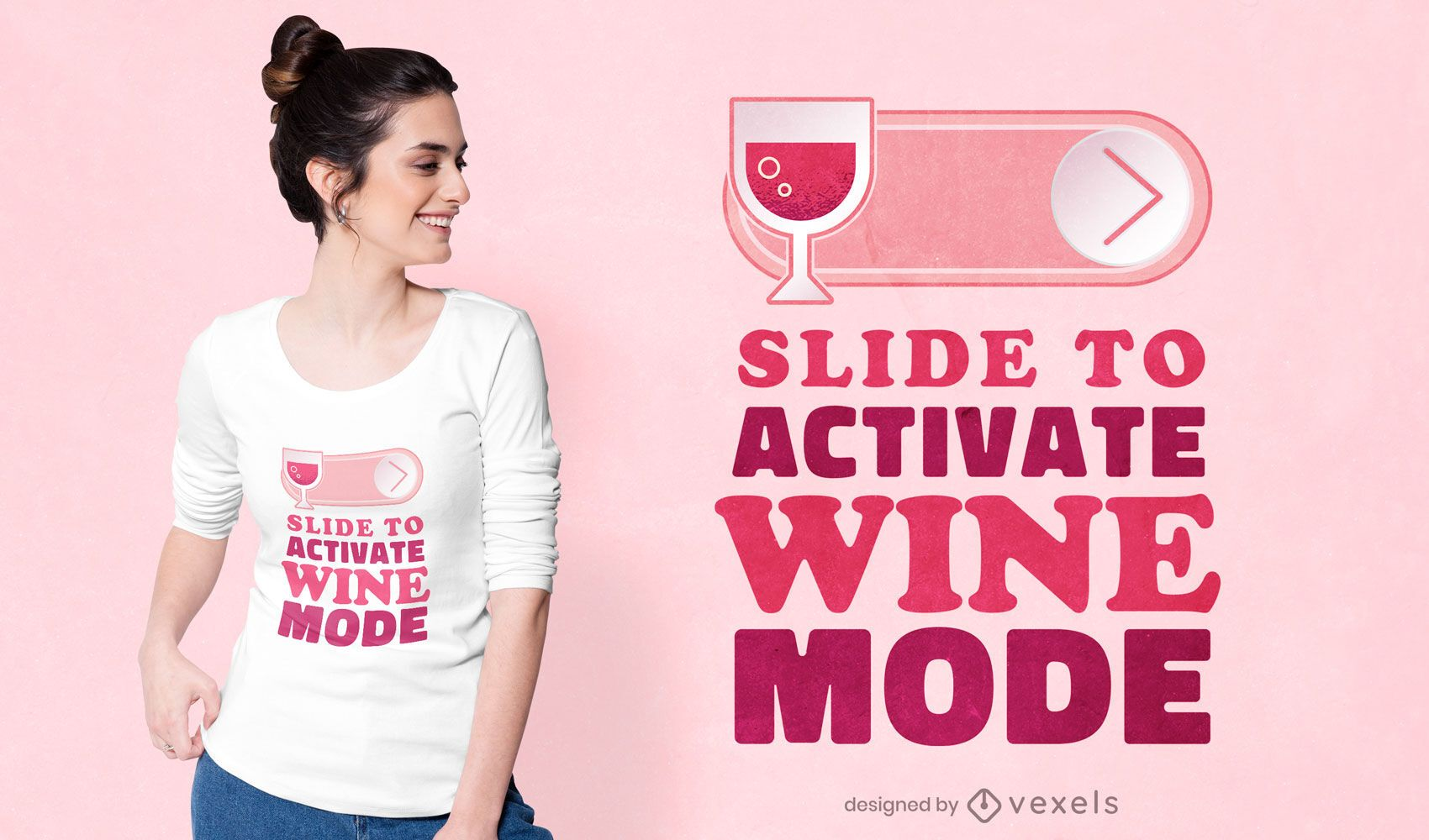 Design de t-shirt da moda vinho