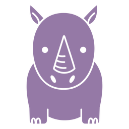 Cute purple rhino cut out