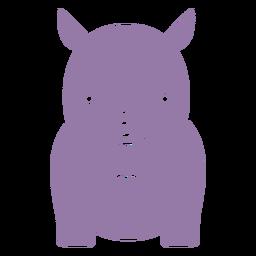 Lindo rinoceronte morado recortado