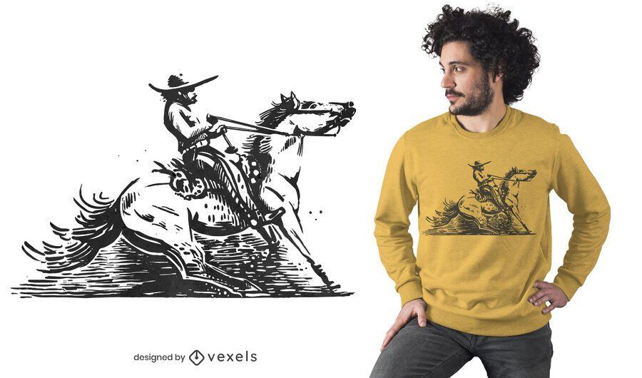 Mexican cowboy t-shirt design