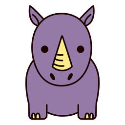 Plano lindo rinoceronte morado