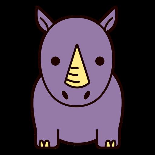 Cute purple rhino flat