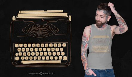 Diseño de camiseta de máquina de escribir