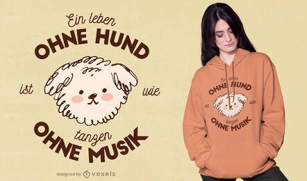 Camiseta de citação alemã de cachorro fofo