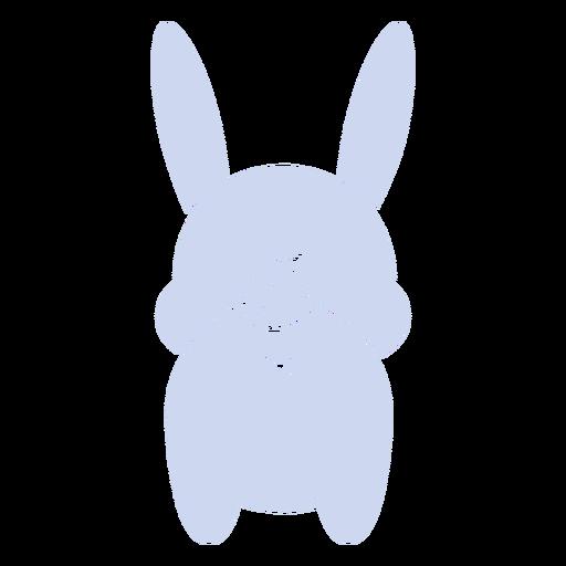 Cute rabbit back cut out