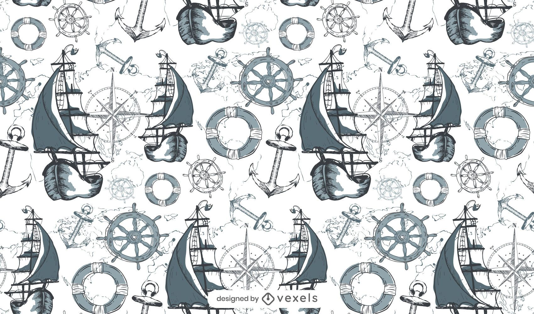 Diseño de patrón marítimo
