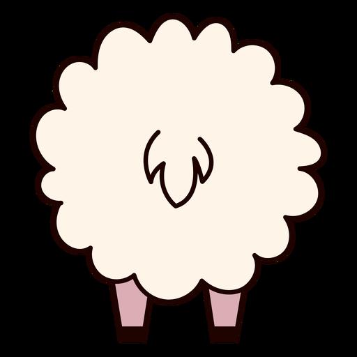 Cute sheep back flat