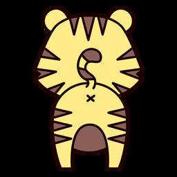 Tigre fofo de costas achatadas