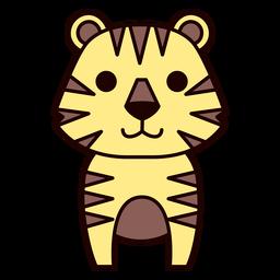 Cute tiger flat