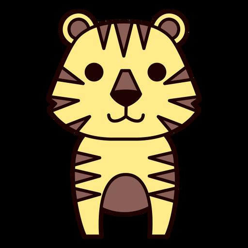 Flat tigre fofo